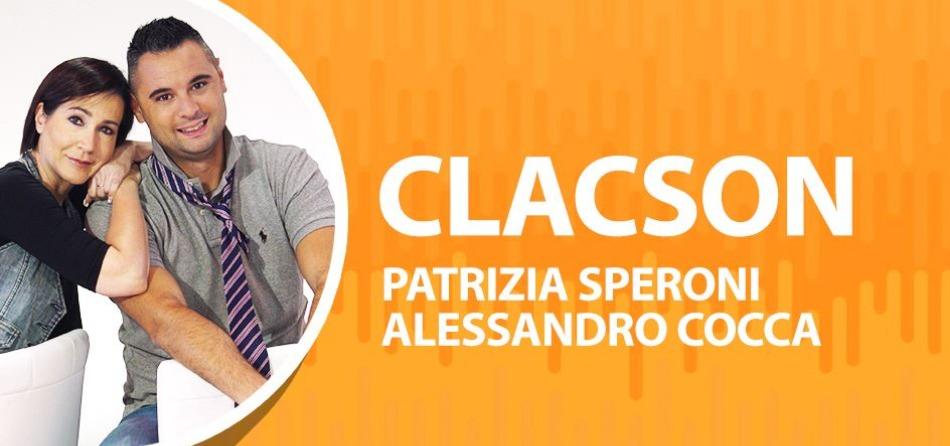 Alessandro Cocca e Patty Speroni, conduttori di Clacson