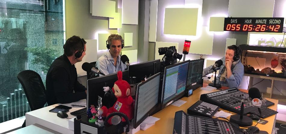 Matteo Pelli con MArcello Foa e Luca Sciarini