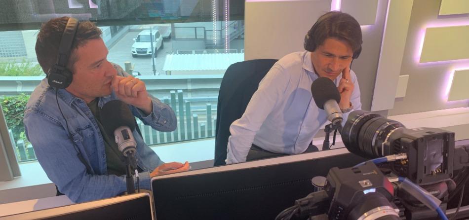 Alessandro Colombi con Matteo Pelli ( MaxiB è di fianco)